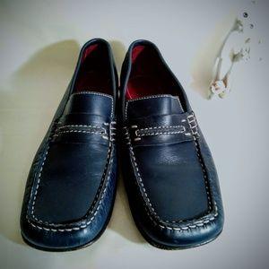 Donald J. Pliner Briet Blue Loafers sz 8M